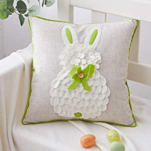 Cassiel Home Embroidery Happy St Patricks Day Throw Pillow Covers Easter Day Decorations Independence Day Pillow Covers 18×18