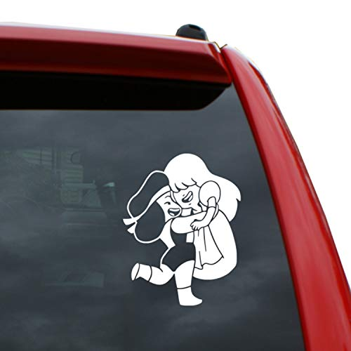 Black Heart Decals & More Steven Universe/Ruby and Sapphire Vinyl Decal Sticker | Color: White | 5' Tall