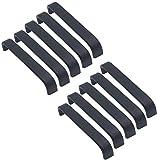10 tiradores de barra negra de 128 mm para muebles de armari