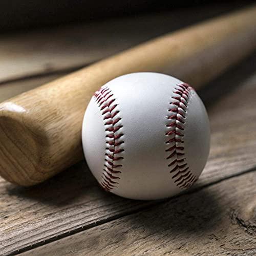 DAUERHAFT 2 Piezas de Pelota de béisbol Suave de práctica de PU, Pelota de béisbol de Entrenamiento Resistente al Desgaste de Alta Elasticidad, Pelota de béisbol de Alta Resistencia a la tracción