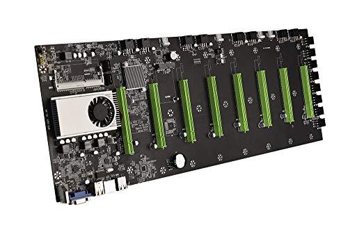 YSINOBEAR BTC-D37 Mining Machine Motherboard CPU Group 8 Ranura para tarjeta gráfica DDR3 Memoria para interfaz VGA de baja potencia para la máquina minera