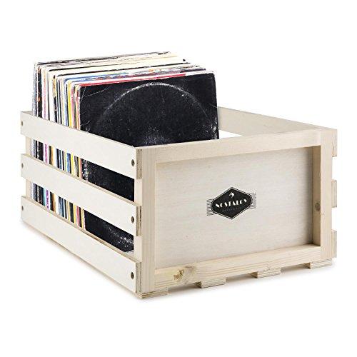 AUNA Nostalgie Record Box WD Caja para Discos de Vinilo (