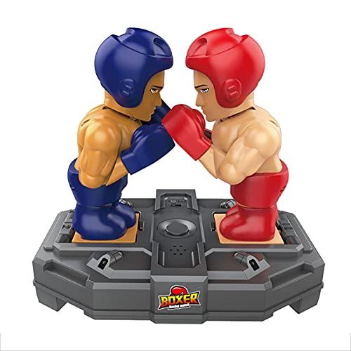 Rock88 Juego de Mesa de Boxeo Electrónico Juguete Familiar Batalla Divertida Juguetes Educativos Interactivos Dobles con Sonidos para Viajes en Interiores y Exteriores