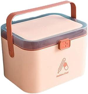 Phoeni Boîte à médicaments Armoire à Pharmacie Domestique de Grande Capacité Boîte de Rangement pour Compartiment médical ...