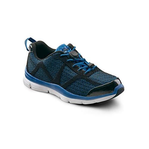 Dr. Comfort Jason Men's Therapeutic Extra Depth Athletic Shoe: Blue 10.5 X-Wide (3E/4E)