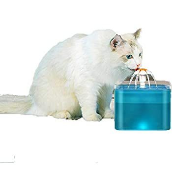 Pet Fountain,Cat/Dog Water Fountains,2L Kitty Water Fountains Cat Drinking Fountain Water Bowl Cat Water Dispenser Pet Smart Automatic Circulating Water Dispenser USB Model  Without Adapter