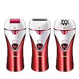 Maquinilla de afeitar para la eliminación del vello, para mujer MARSKE Afeitadora eléctrica sin dolor Trimmer Removedor de callos Impermeable, mojado/seco para el cuerpo, axilas, axilas, bikini, fac