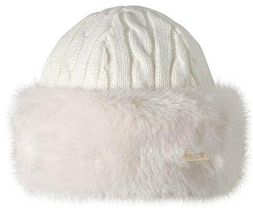 Barts Bonnet avec bandeau en fourrure pour femme Taille unique blanc