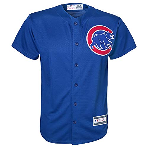 Outerstuff MLB 4-7 Kids Blank Cool Base Alternate Color Team Jersey (5/6, Chicago Cubs Alternate Blue)