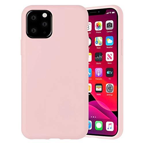 Yoedge Color Sólido Funda para Xiaomi Redmi 6A 5.45 Pulgadas Sencillez Carcasa de Silicona Suave Case Protectora de TPU Suave Protección Funda Cover para Redmi 6A Teléfono móvil Carcasas Fundas,Rosado