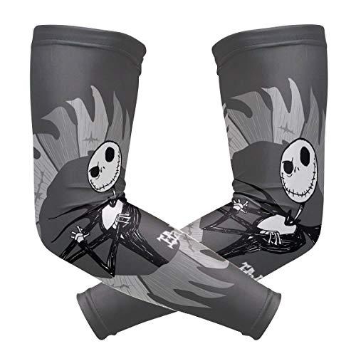 hgdfhfgd Halloween-Skelette Armstulpen UV-Schutz für Männer Frauen Sonnenschutz-Schutzhandschuhe Laufen Golf Radfahren Fahren Lange Armabdeckung 1 Paar