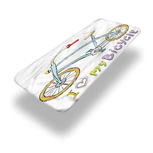 LCGGDB - Tovaglia da picnic in poliestere per bicicletta, con scritta 'Love Citation', con bordo elastico, 91,4 x 243,8 cm (2,4 m), per viaggi, Natale, picnic, feste all'aperto