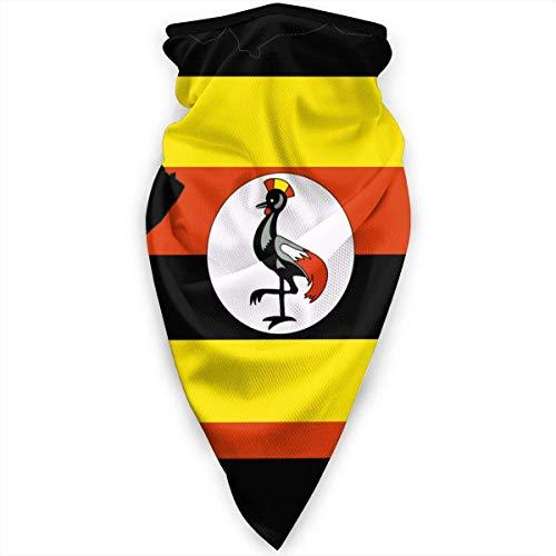 Gwrix Ademende Headwear, multifunctionele halsdoek, magische sjaal, halsgamas, halfgezicht, Uganda Flag Map Sport, bandana, voor mannen en vrouwen, mondbeschermer