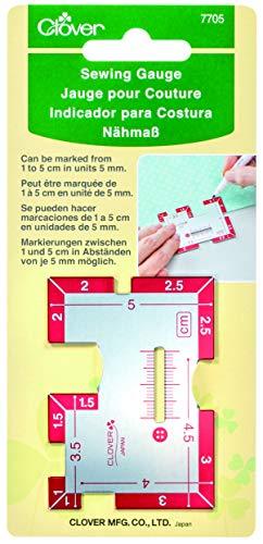 Clover 7705 - Medidor de costura (metal, tamaño único), multicolor