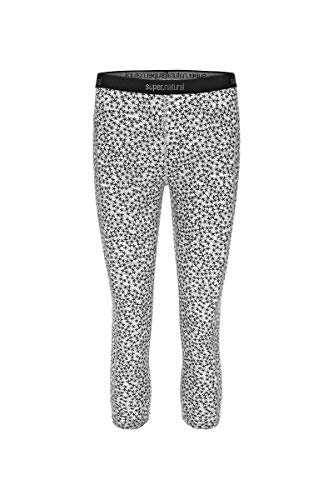 super. Natural W Base 3/4 175 Printed Femme en Laine mérinos Tight L Ash Melange/Ash Stars