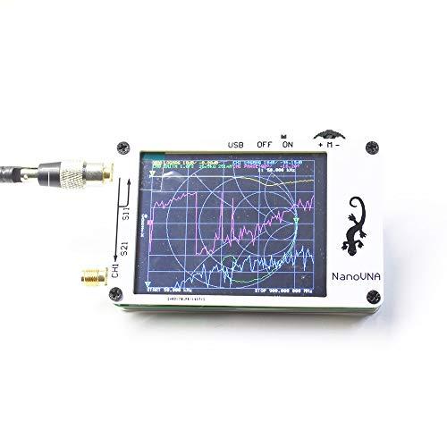KKmoon Mini Analizador de antena analizador de redes electricas 50 KHz-900MHz Pantalla LCD digital de 2,8 pulgadas Pantalla táctil HF VHF UHF Instrumento de medición de onda estacionaria