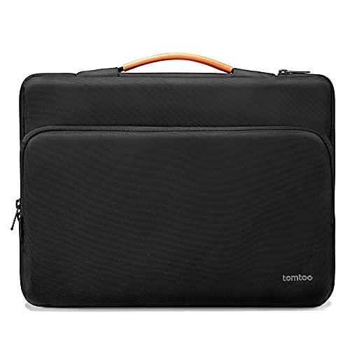 """tomtoc Laptop Aktentasche für 16\"""" MacBook Pro A2141, 15\"""" MacBook Pro A1398, 15,6\"""" Lenovo IdeaPad 5, 15\"""" Microsoft Surface Book, Dell XPS 15, Razer Blade 15 Laptop, Wasserdicht Stoßfest Tasche"""