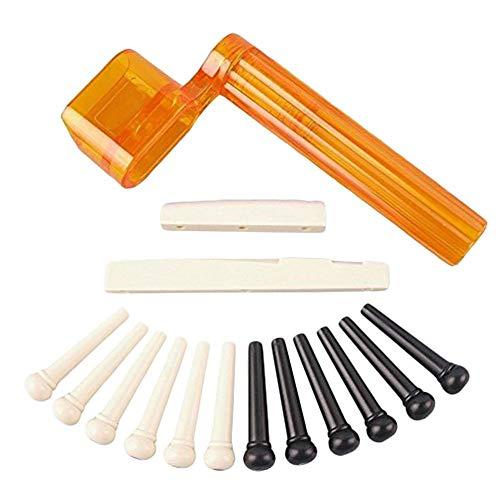Gitarre Bridge Pins Puller Remover Extractor Werkzeug Gitarre Zubehör Kombination Vierteiliger Anzug Für Performance Verbesserung