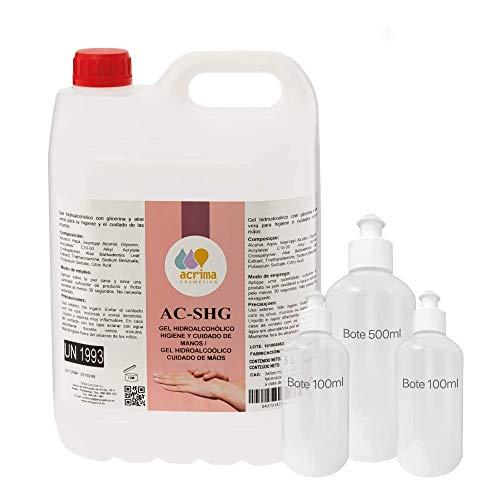 Gel hidroalcoholico manos 5 litros desinfectante de manos liquido antiseptico antibacteriano jabon antiséptico a base de alcohol ideal para dispensadores