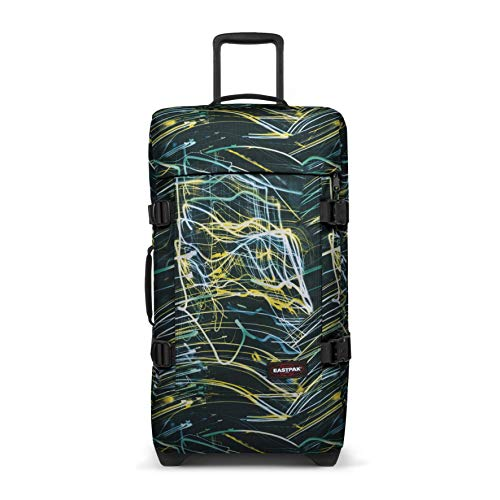 Eastpak Tranverz M Suitcase, 67 cm, 78 L, Multicolour (Blurred Lines)