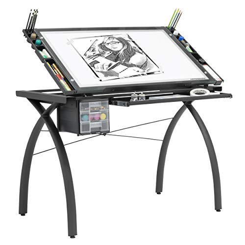 Futura Light Table for Artists/Drawing with Dimmable Light and Adjustable Top
