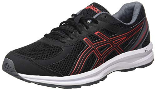 ASICS Unisex-Adult Black Running Shoes-8 UK (Gel-Braid)