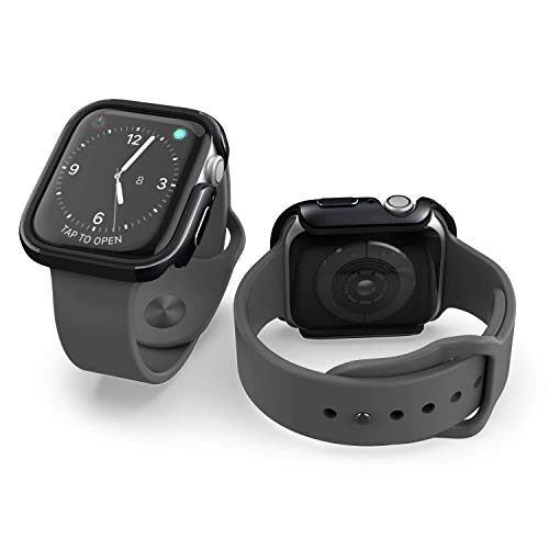 Raptic Edge, Compatible with 40mm Apple Watch, 40mm Apple Watch Case (Formerly X-Doria Edge) - Premium Aluminum & TPU Bumper Frame, Compatible with Apple Watch Series 4, Series 5, and Series 6, Black
