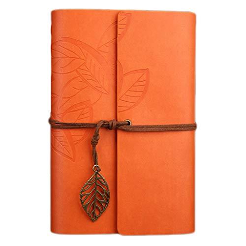 Notebook Retro Foderato Notebook Oxford reizen DIY notitieblok van PU-leer spiraal groot dakpannen, notebook