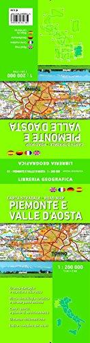 Carta Stradale Piemonte e Valle D'Aosta 1: 200 000