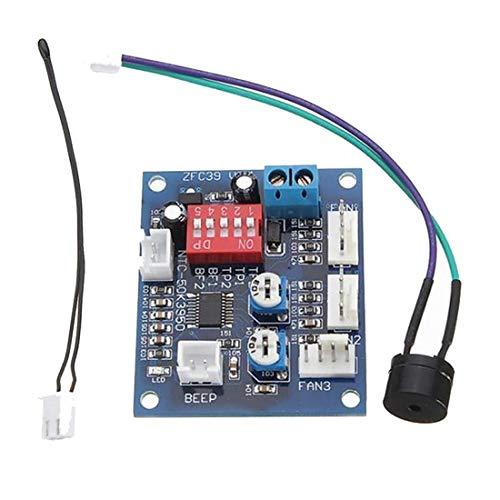 HiLetgo DC 12V 5A PWM PC CPU Fan Temperature Control Speed Controller Board Speed Controller Temperature Probe Buzzle