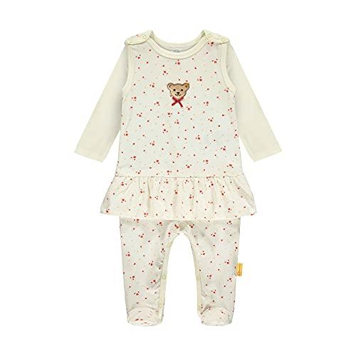 Steiff Set Strampler + T-Shirt Langarm Ropa Interior, Color Blanco, 56 cm para Bebés