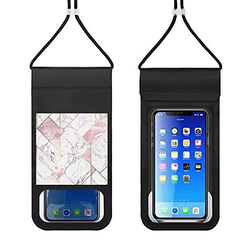 Funda impermeable para teléfono móvil, Nexus geométrico oro rosa, bolsa seca para natación, barco, pesca, esquí, rafting, compatible con todos los teléfonos de debajo de 6,5 pulgadas