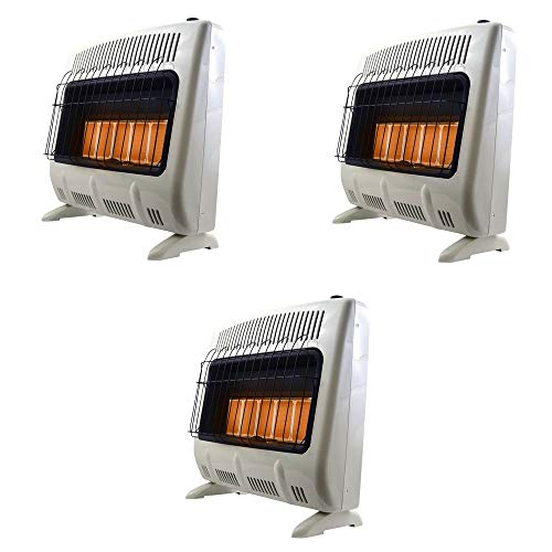 Great Features Of Mr. Heater 30000 BTU Vent Free Radiant Propane Indoor/Outdoor Heater (3 Pack)