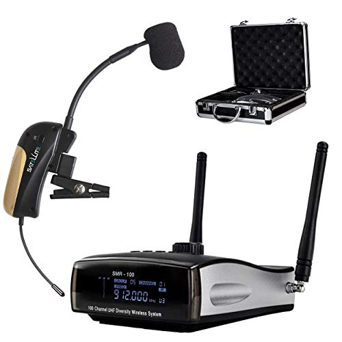 Nady Satellite SMHTA-100   100-Channel True Diversity Wireless Instrument System for Horns, Woodwinds - Portable AA Batteries Operation - Includes Metal Carrying case.