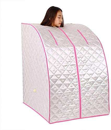 Rabbfay Mini Mobile Indoor Sauna Spa, Home Portable Sauna with Aromatherapy Pill Box Household Sweat Steamer Weight Loss Detox Relaxation Slimming,1
