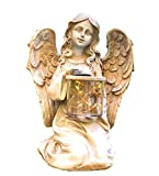 Solar Powered Fairy Angel with Wings and Solar Glowing Jar LED Garden Light Decor
