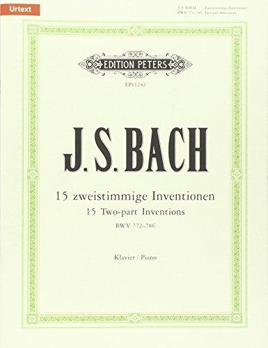 15 zweistimmige Inventionen: BWV 772-786