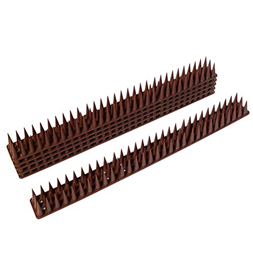 Fyeep Pigeon defense, bird defense with bird protection spikes, plastic pigeon spikes Pigeon protection set for balcony, roof and window Bird protection tool, 10 pieces
