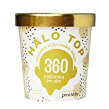 Halo Top Chocolate Chip Cookie Dough Ice Cream,, 16 Ounce (Pack of 8)