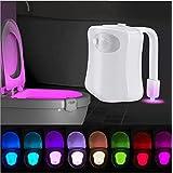 【期間限定】AmazLight トイレ ナイトライト モーション感知 トイレ 夜用ライト トイレトレーニングにも最適 8カラー モーションセンサー LED トイレ 照明 AMZL Toilet Night Light