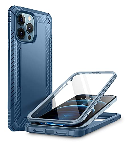 Clayco Xenon Protective Case for iPhone 13 Pro Max 6.7 inch (2021 Release), Built-in Screen Protector, Full-Body Rugged Dual Layer Hybrid Bumper Case (Azure) is $12.99 (13% off)