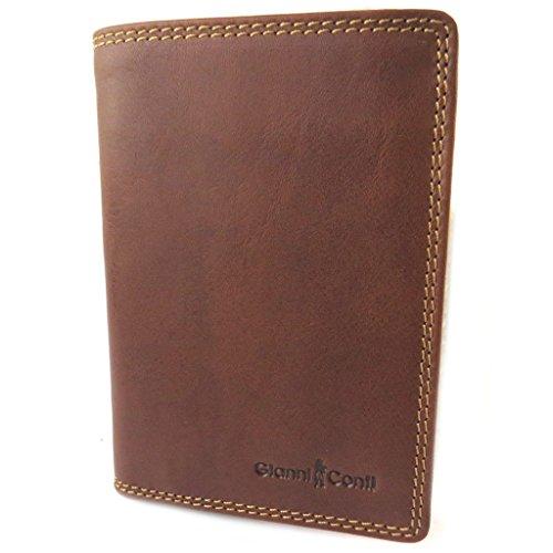 Gianni Conti [N8020] - Geldbörse aus Leder 'Gianni Conti' Cognac - 14x10x2 cm.
