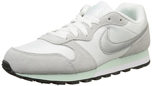 Nike MD Runner 2, Zapatillas de Running Mujer, Blanco (White/Fibreglass/Pure Platinum/Metallic Silver 103), 36.5