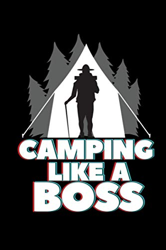 Camping like a boss: Camping Lined Notebook incl. Table of Contents on 120 Pages   Camping Camping Journal   Gift Idea for Motor home, vacation, camper van and motor home