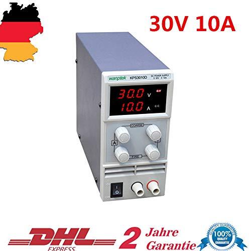 Labornetzteil Regelbar YUNRUX Regelbares Labor Netzgerät 0-30v 0-10A Digitales Labornetzgerät DC Netzteil Strommessgeräte mit Digitalanzeige