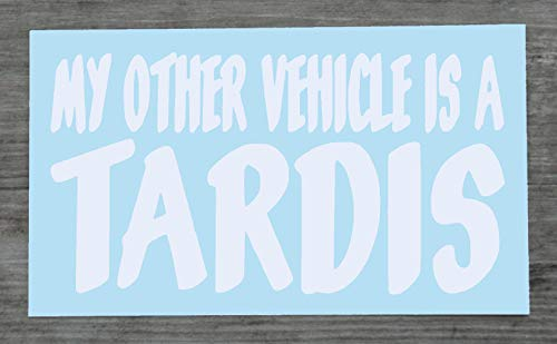 Happy Snail Stickers Dr Who Aufkleber My Other Vehicle Is A Tardis White Decal for Car – HSS173 (weiß)