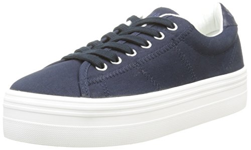 No Name Plato, Baskets Basses Femme, Bleu (Navy), 38 EU