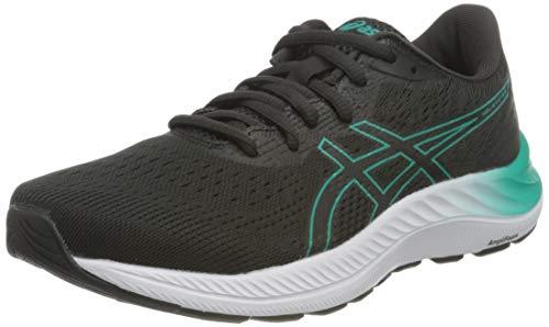ASICS Damen Gel-Excite 8 Road Running Shoe, Black/Baltic Jewel, 39.5 EU