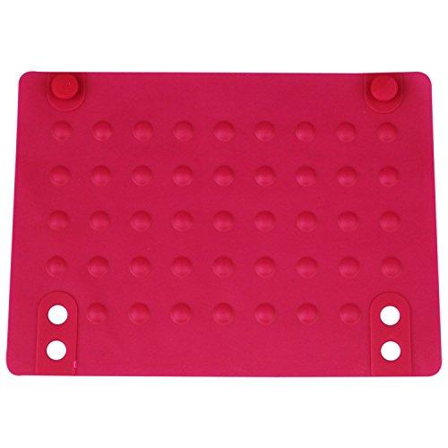 TOOGOO Tapis De Silicone Résistant à La Chaleur Tapis Anti-Chaleur pour Fer à Friser Lisseur Cheveux (Rose Rouge) 215X165Cm