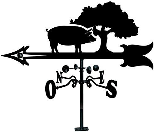 Arthifor - Veleta de Viento de Hierro para Tejado con Silueta de Cerdo Ibérico